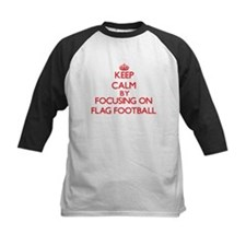 Keep Calm by focusing on Flag Foot Baseball Jersey