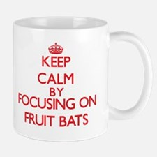Keep Calm by focusing on Fruit Bats Mugs