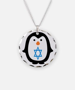 PENQUIN WITH JEWISH STAR Necklace