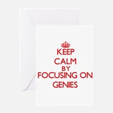 Keep Calm by focusing on Genies Greeting Cards