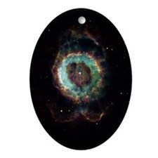 NGC 6369 Astronomy Christmas Tree Oval Ornament
