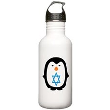 PENQUIN WITH JEWISH STAR Water Bottle
