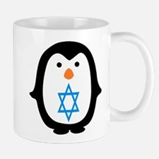 PENQUIN WITH JEWISH STAR Mugs