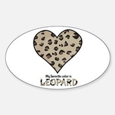 Favorite Color Is Leopard Decal