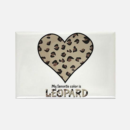 Favorite Color Is Leopard Magnets