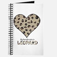 Favorite Color Is Leopard Journal