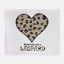 Favorite Color Is Leopard Throw Blanket