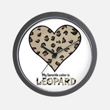 Favorite Color Is Leopard Wall Clock