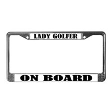 Lady Golfer License Plate Frame