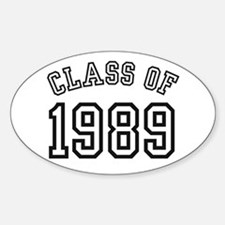 Class of 1989 Oval Decal
