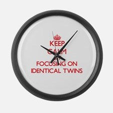 Keep Calm by focusing on Identica Large Wall Clock