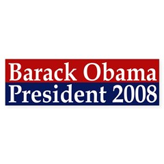 Barack Obama: President 2008 (sticker)