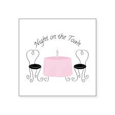 Night On Town Sticker
