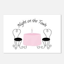 Night On Town Postcards (Package of 8)