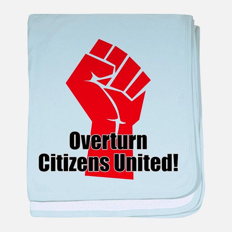 Citizens United baby blanket