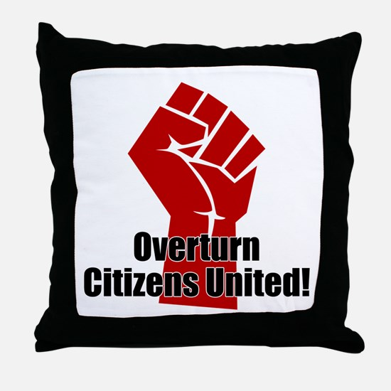 Citizens United Throw Pillow