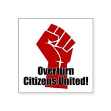"Citizens United Square Sticker 3"" x 3"""