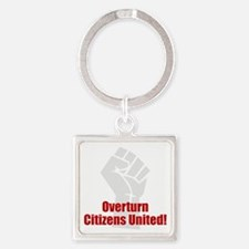 Citizens United Square Keychain