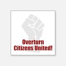 """Citizens United Square Sticker 3"""" x 3"""""""