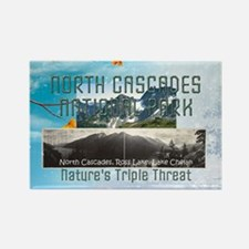 North Cascades Rectangle Magnet