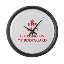 Keep Calm by focusing on My Bodyg Large Wall Clock