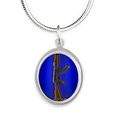 Ballshnikov by Bluesax Silver Oval Necklace