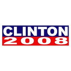 Clinton for President 2008 (bumper sticker)
