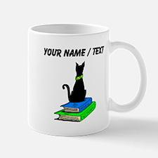 Custom Cat On Books Mugs