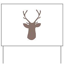 Deer Head Yard Sign