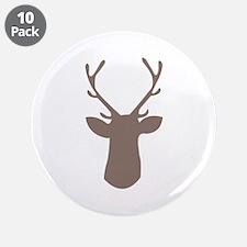 """Deer Head 3.5"""" Button (10 pack)"""