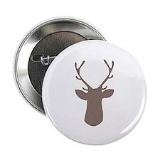 """Deer Head 2.25"""" Button (10 pack)"""