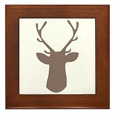 Deer Head Framed Tile