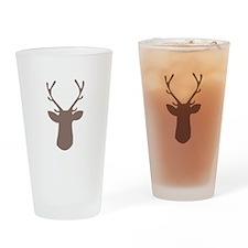 Deer Head Drinking Glass