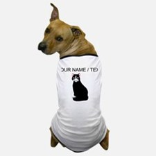 Custom Cat Sitting Dog T-Shirt