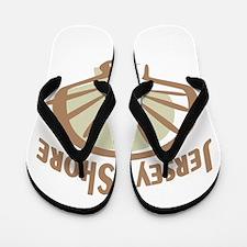 Jersey Shiore Shell Flip Flops