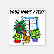 Custom Cat With Flowers Sticker