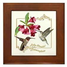 Hummingbird Pair Framed Tile