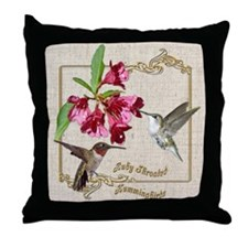 Hummingbird Pair Throw Pillow