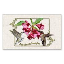 Hummingbird Pair Rectangle Decal