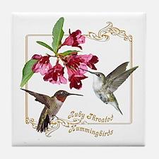 Hummingbird Pair Tile Coaster