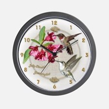 Hummingbird Pair Wall Clock