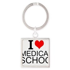 I Love Medical School Keychains