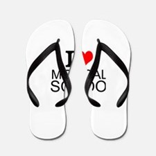 I Love Medical School Flip Flops