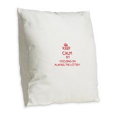 Keep Calm by focusing on Playi Burlap Throw Pillow