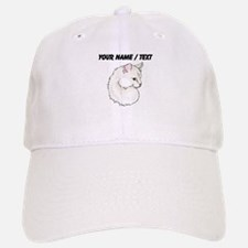 Custom White Cat Baseball Baseball Baseball Cap