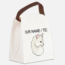 Custom White Cat Canvas Lunch Bag