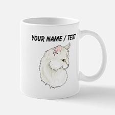 Custom White Cat Mugs