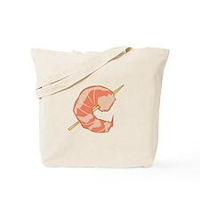 Shrimp Skewer Tote Bag