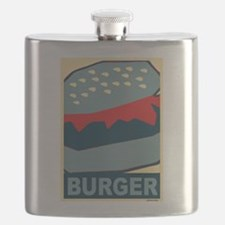 Hamburger in Blues Flask