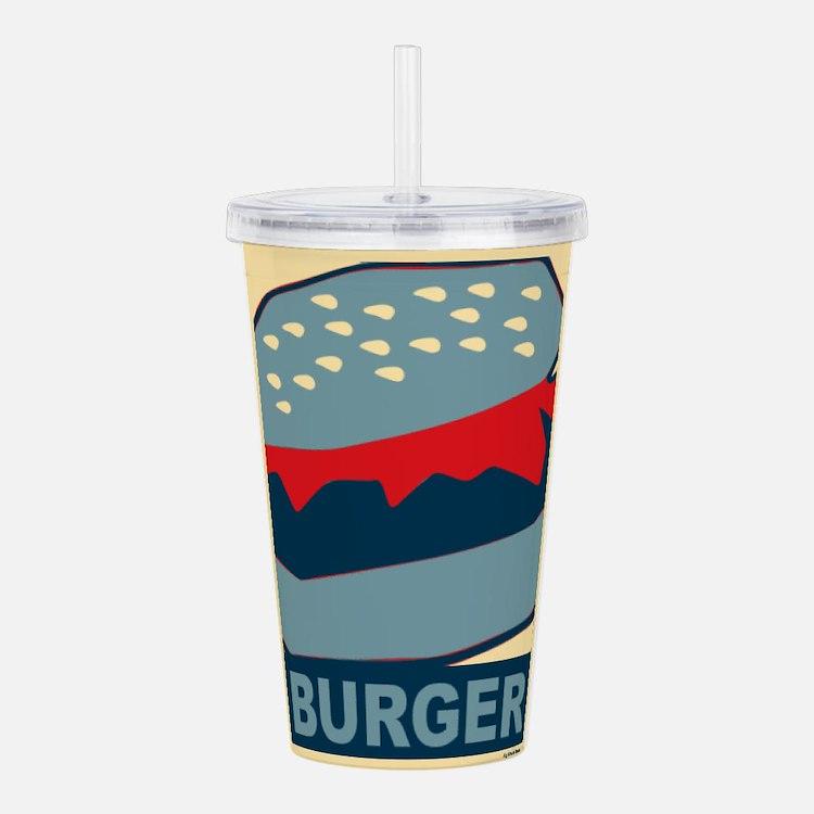 Hamburger in Blues Acrylic Double-wall Tumbler